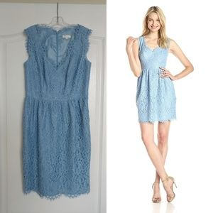 Shoshanna Sierra dress in periwinkle/blue